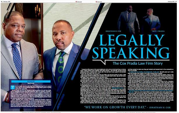d-mars.com magazine article featuring Attorneys of Cox Pradia Law Firm